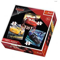 PUZZLE AUTA CARS 3 3w1...